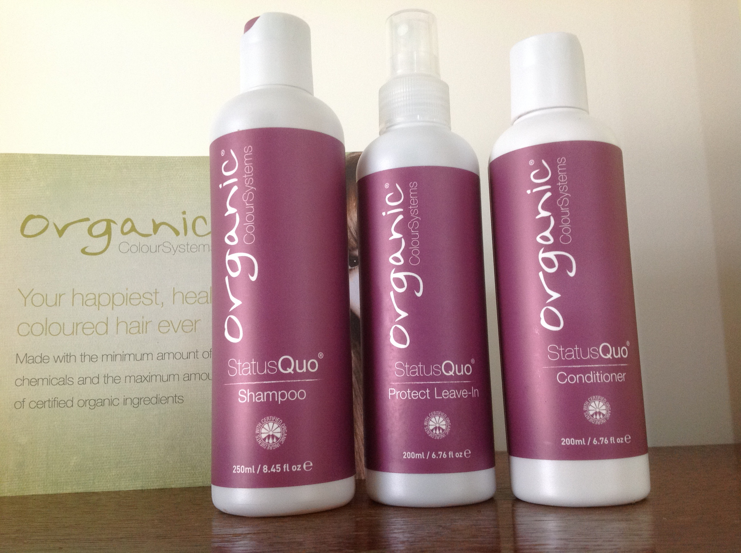 Organic Colour Systems care range
